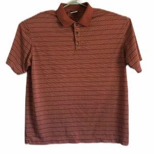 Nike Mens Dri Fit Golf Shirt XL Red White Stripe
